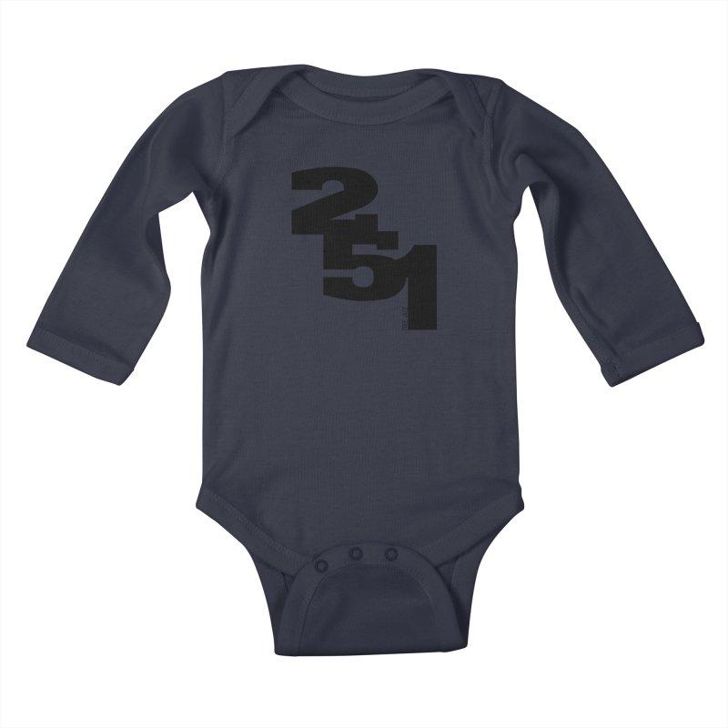 2 5 1 Kids Baby Longsleeve Bodysuit by Cornerstore Classics
