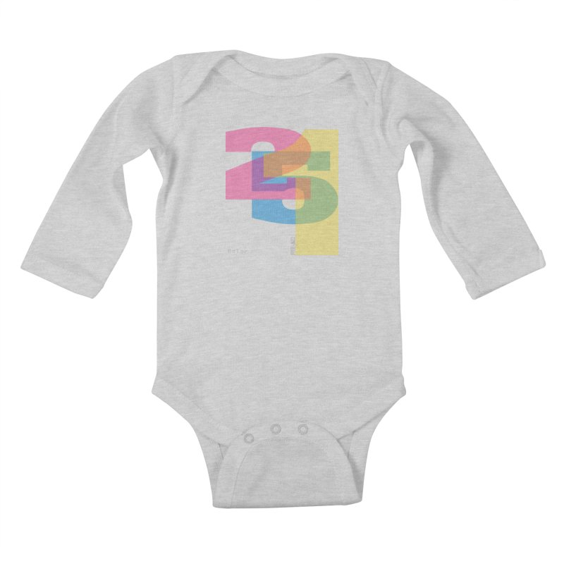 color 2 5 1 Kids Baby Longsleeve Bodysuit by Cornerstore Classics