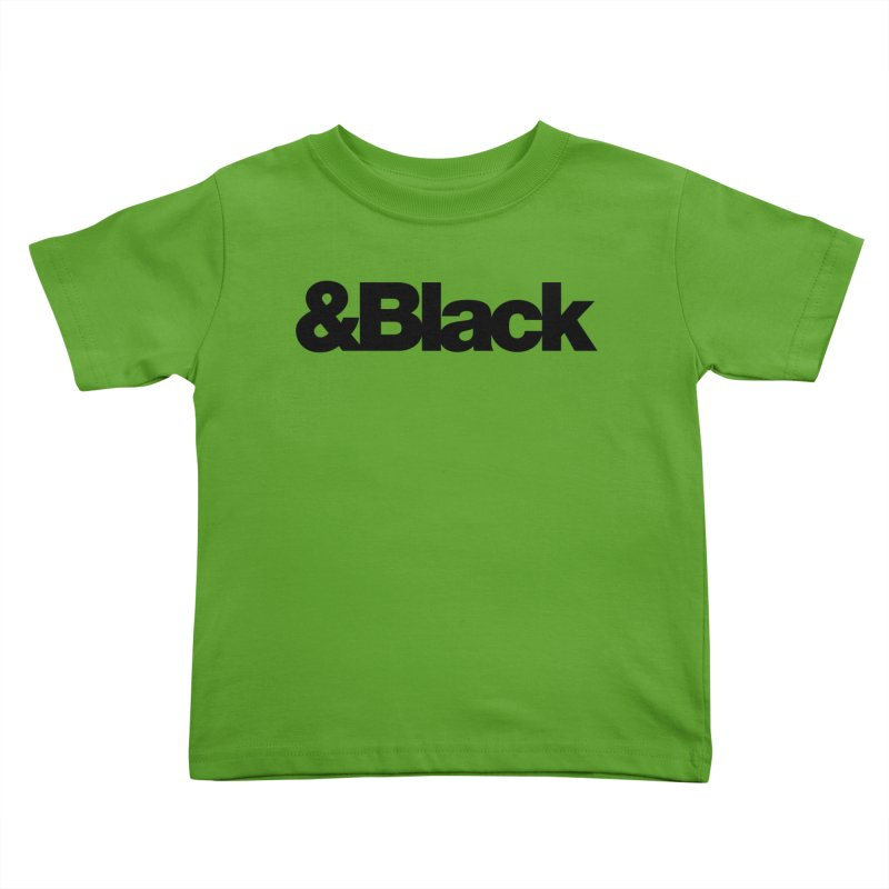 &Black Kids Toddler T-Shirt by Cornerstore Classics