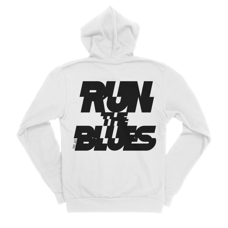 Run The Blues Men's Zip-Up Hoody by Cornerstore Classics