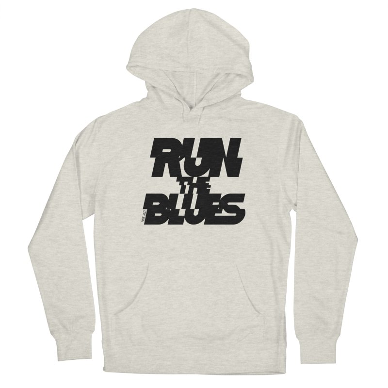 Run The Blues Men's Pullover Hoody by Cornerstore Classics