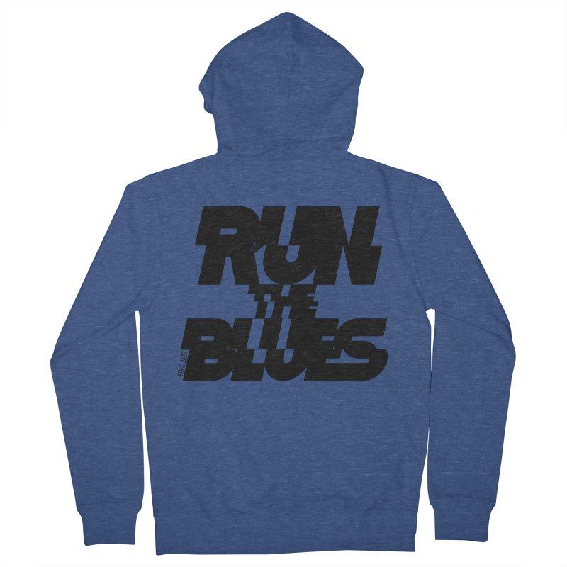 Run The Blues Women's Zip-Up Hoody by Cornerstore Classics
