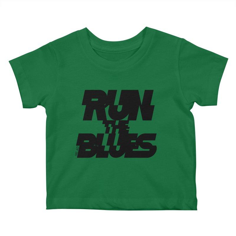 Run The Blues Kids Baby T-Shirt by Cornerstore Classics