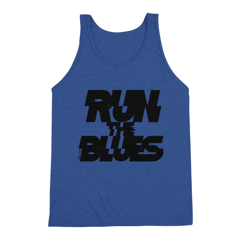 Run The Blues Men's Tank by Cornerstore Classics