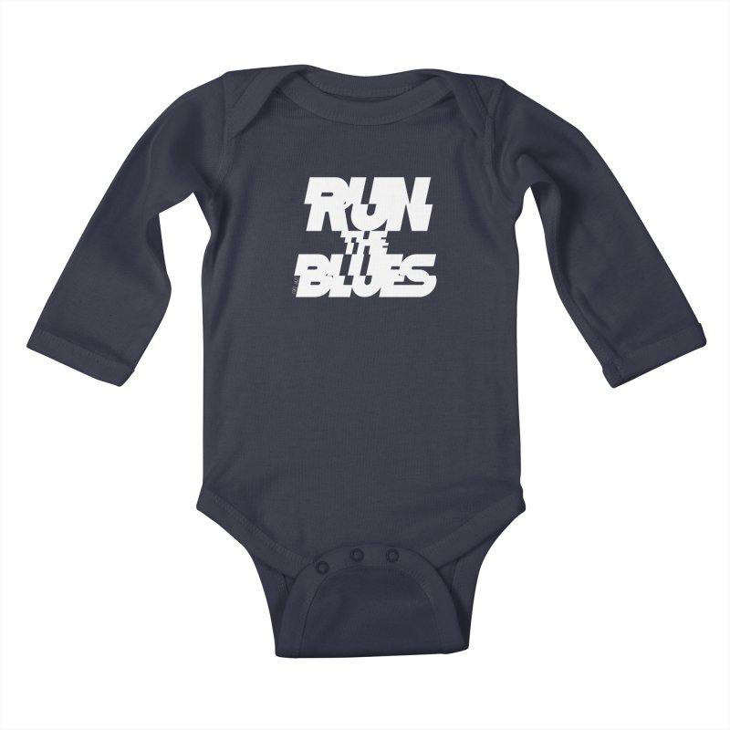 Run The Blues Kids Baby Longsleeve Bodysuit by Cornerstore Classics