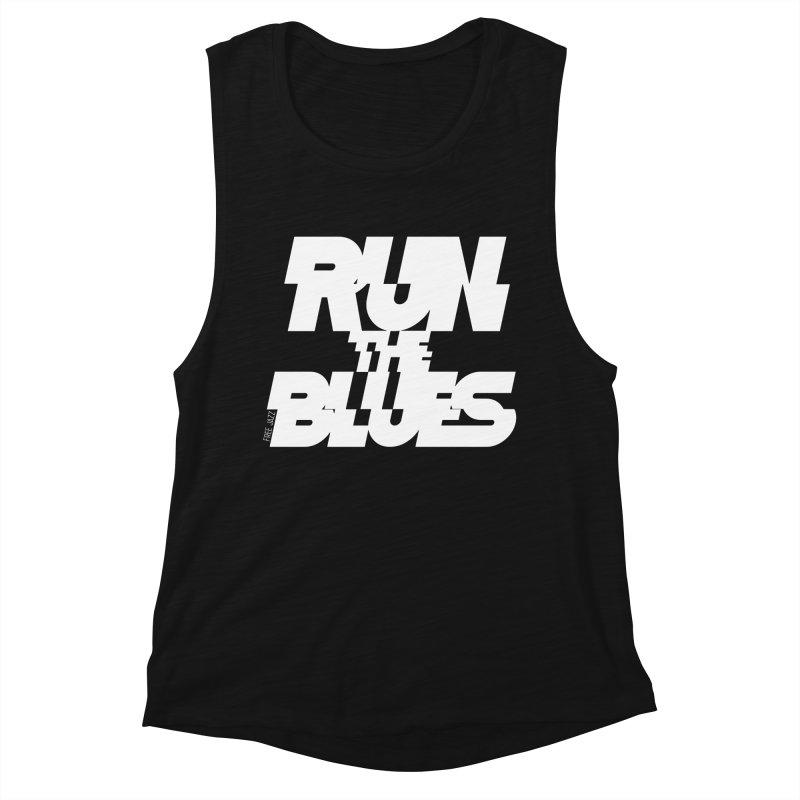 Run The Blues Women's Tank by Cornerstore Classics