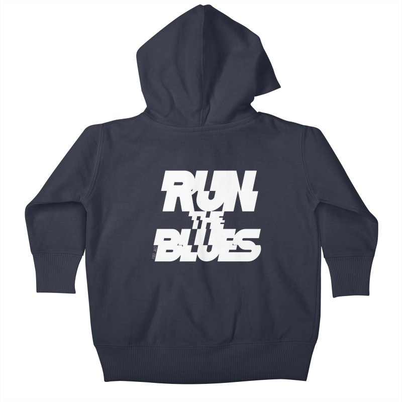 Run The Blues Kids Baby Zip-Up Hoody by Cornerstore Classics