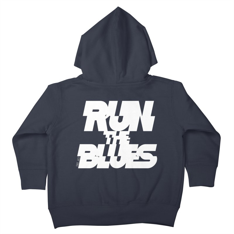Run The Blues Kids Toddler Zip-Up Hoody by Cornerstore Classics
