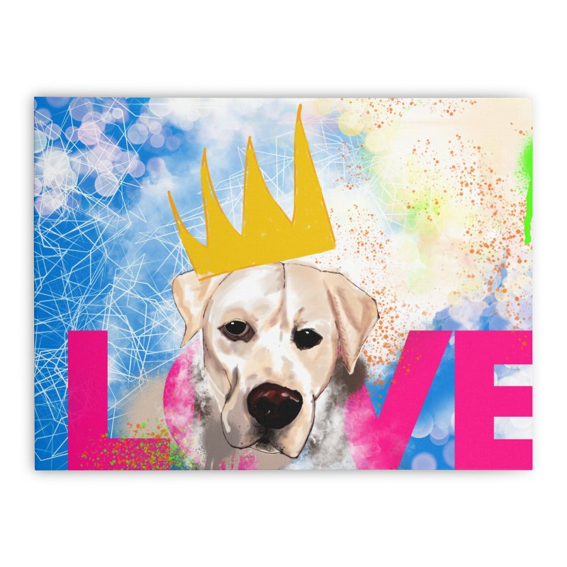 Love Uncoditional Home Stretched Canvas by Cornerstore Classics