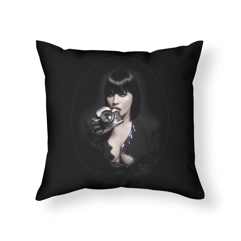 Camera Lust Home Throw Pillow by Corporate Vampire's Artist Shop