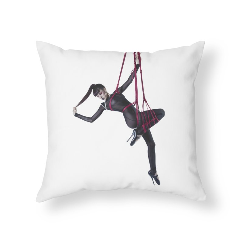 Hang On Home Throw Pillow by Corporate Vampire's Artist Shop