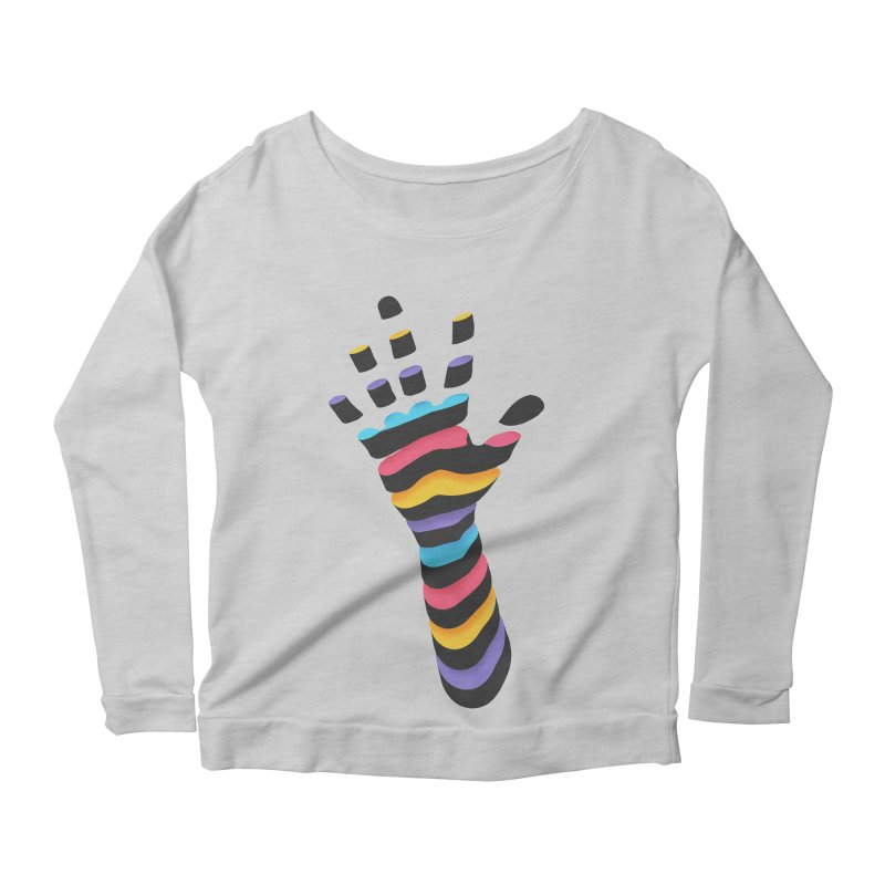 Sliced Women's Scoop Neck Longsleeve T-Shirt by Corsac's Artist Shop