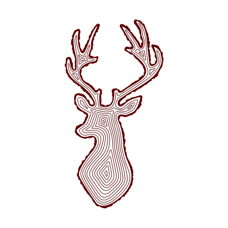 My Deer Tree Women's V-Neck by Corsac's Artist Shop