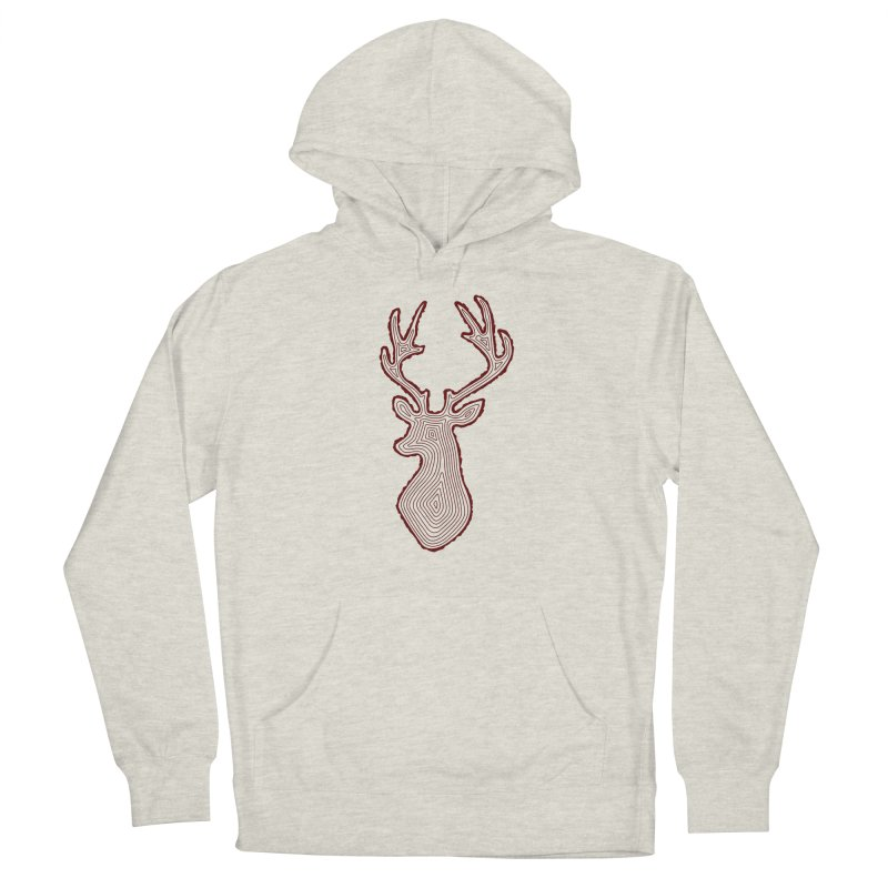 My Deer Tree Women's French Terry Pullover Hoody by Corsac's Artist Shop