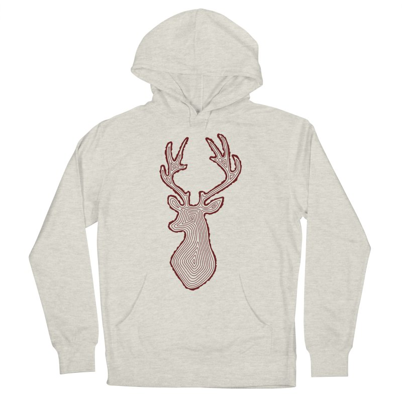 My Deer Tree Men's French Terry Pullover Hoody by Corsac's Artist Shop
