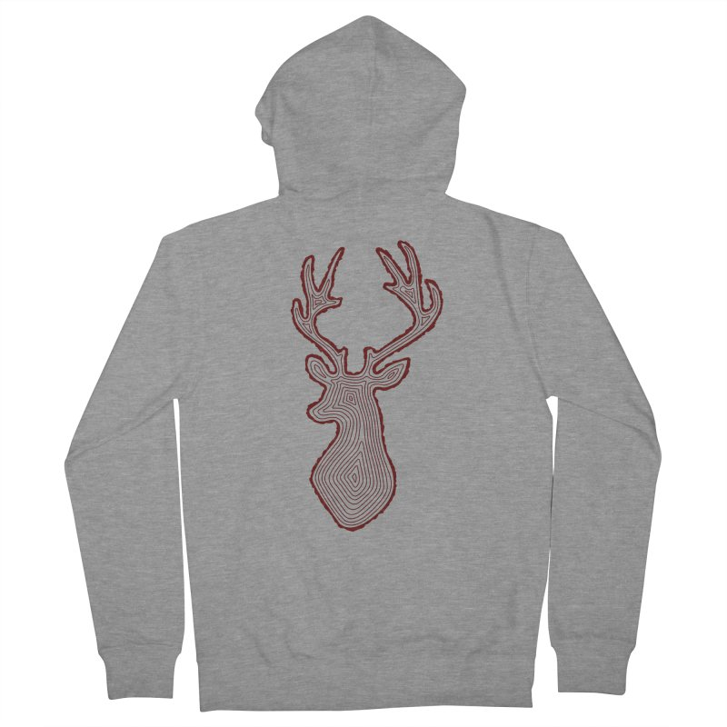 My Deer Tree Women's French Terry Zip-Up Hoody by Corsac's Artist Shop