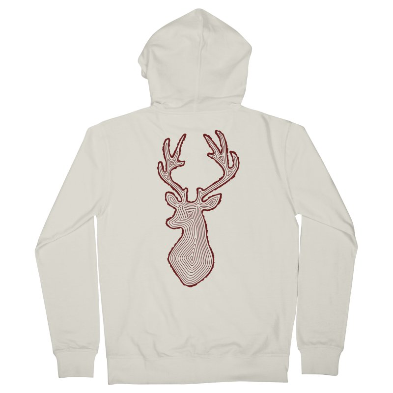 My Deer Tree Men's French Terry Zip-Up Hoody by Corsac's Artist Shop