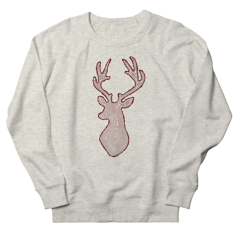 My Deer Tree Men's French Terry Sweatshirt by Corsac's Artist Shop