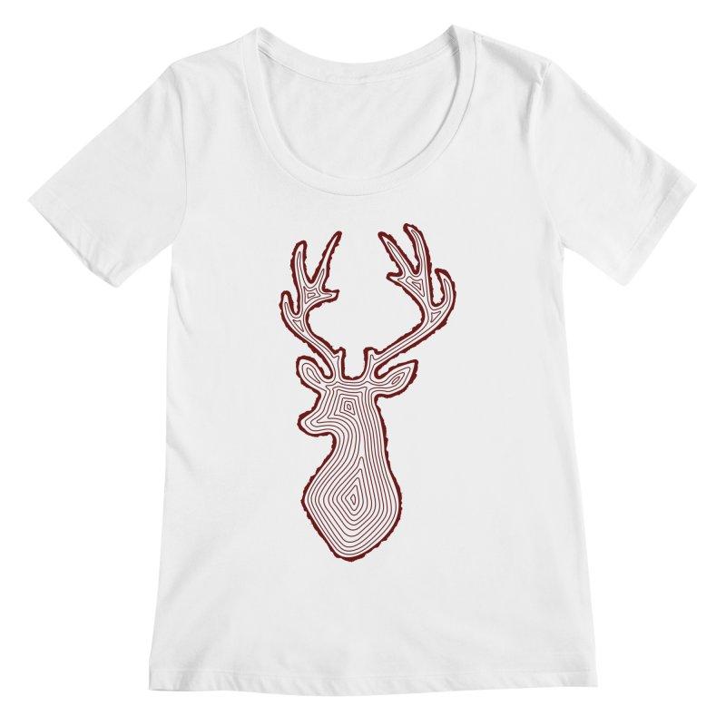 My Deer Tree Women's Scoopneck by Corsac's Artist Shop