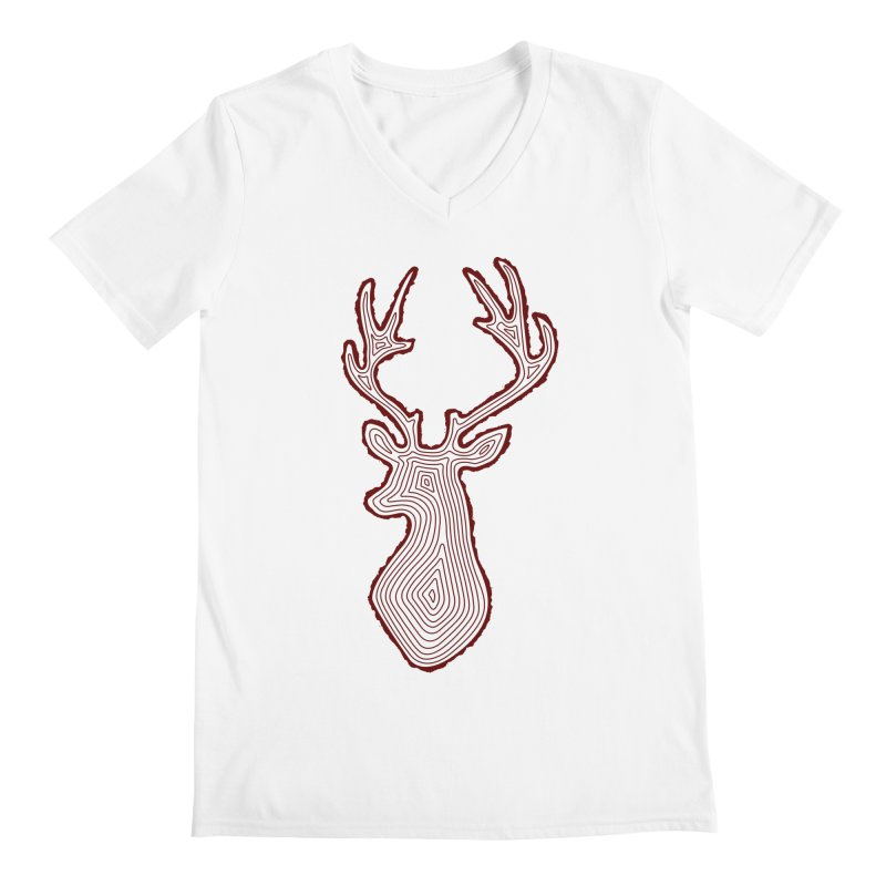 My Deer Tree Men's Regular V-Neck by Corsac's Artist Shop