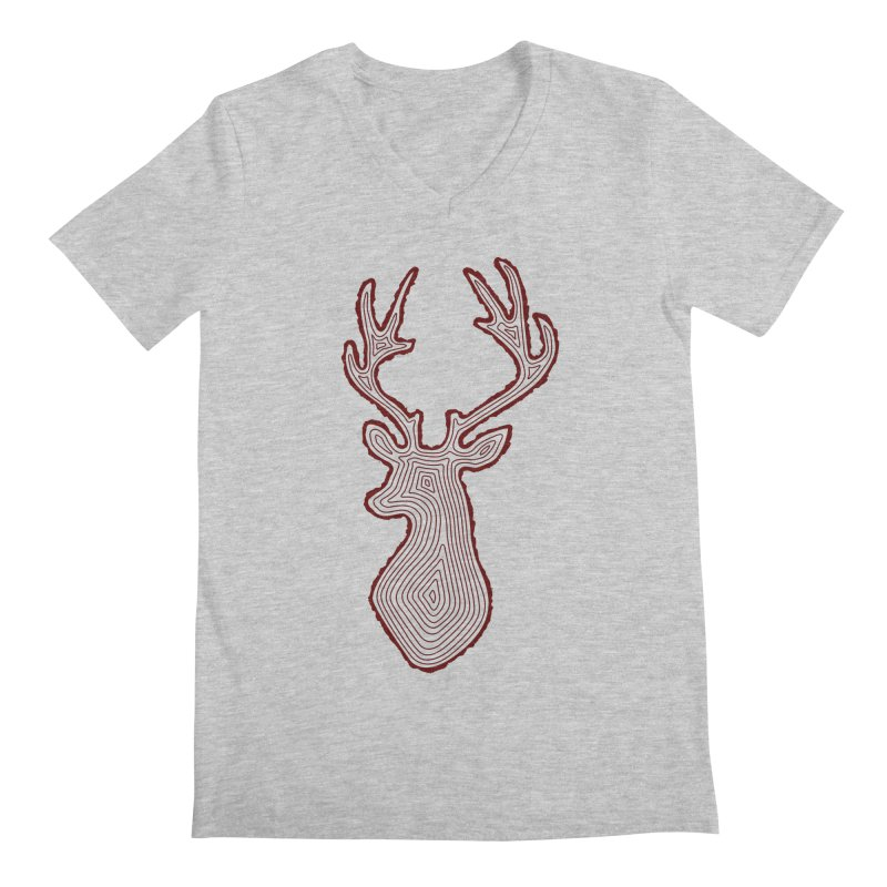 My Deer Tree Men's V-Neck by Corsac's Artist Shop