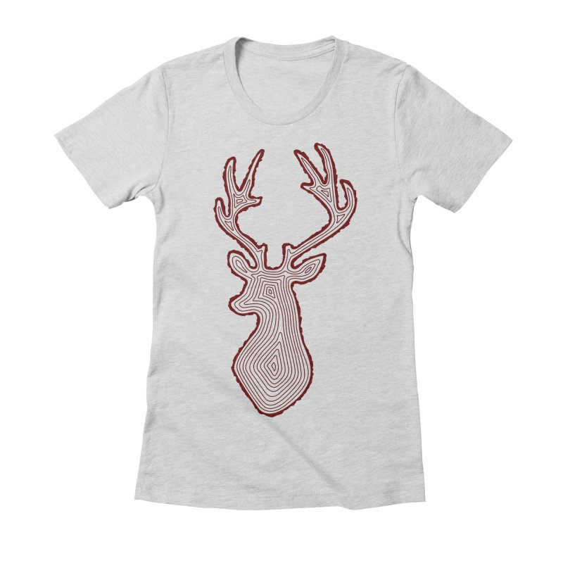 My Deer Tree Women's Fitted T-Shirt by Corsac's Artist Shop