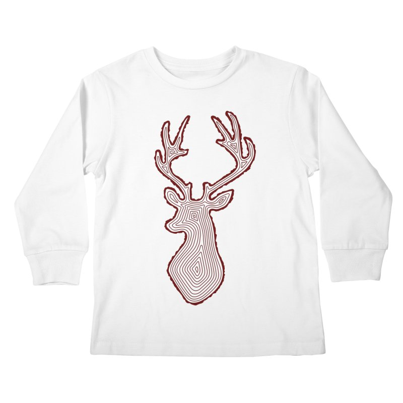 My Deer Tree Kids Longsleeve T-Shirt by Corsac's Artist Shop