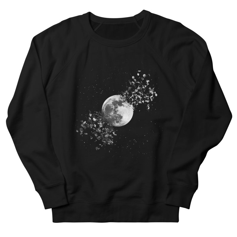 Moon Explosion Men's French Terry Sweatshirt by Corsac's Artist Shop