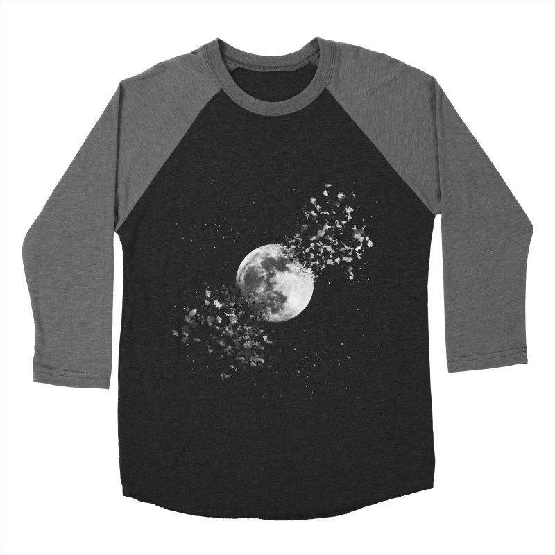 Moon Explosion Men's Baseball Triblend Longsleeve T-Shirt by Corsac's Artist Shop