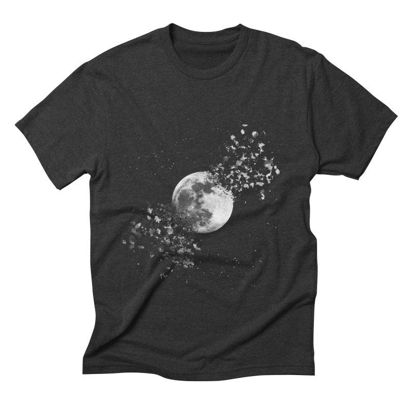 Moon Explosion Men's Triblend T-shirt by Corsac's Artist Shop