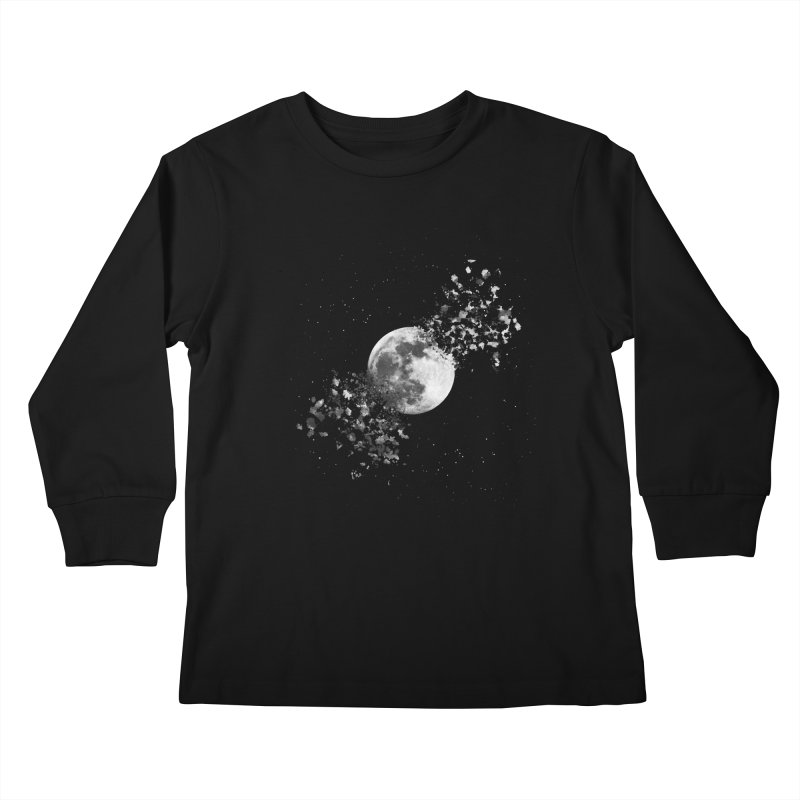 Moon Explosion Kids Longsleeve T-Shirt by Corsac's Artist Shop