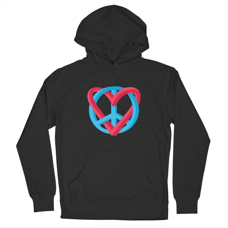 Peace + Love Men's Pullover Hoody by Corsac's Artist Shop