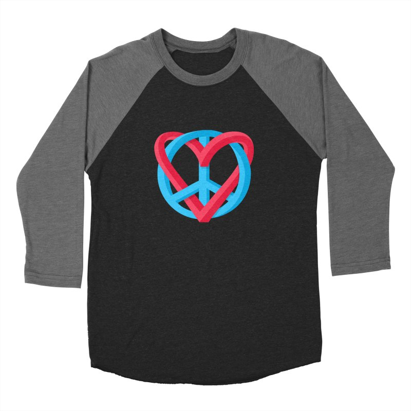 Peace + Love Men's Longsleeve T-Shirt by Corsac's Artist Shop