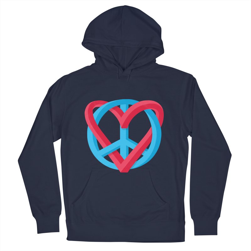 Peace + Love Women's French Terry Pullover Hoody by Corsac's Artist Shop