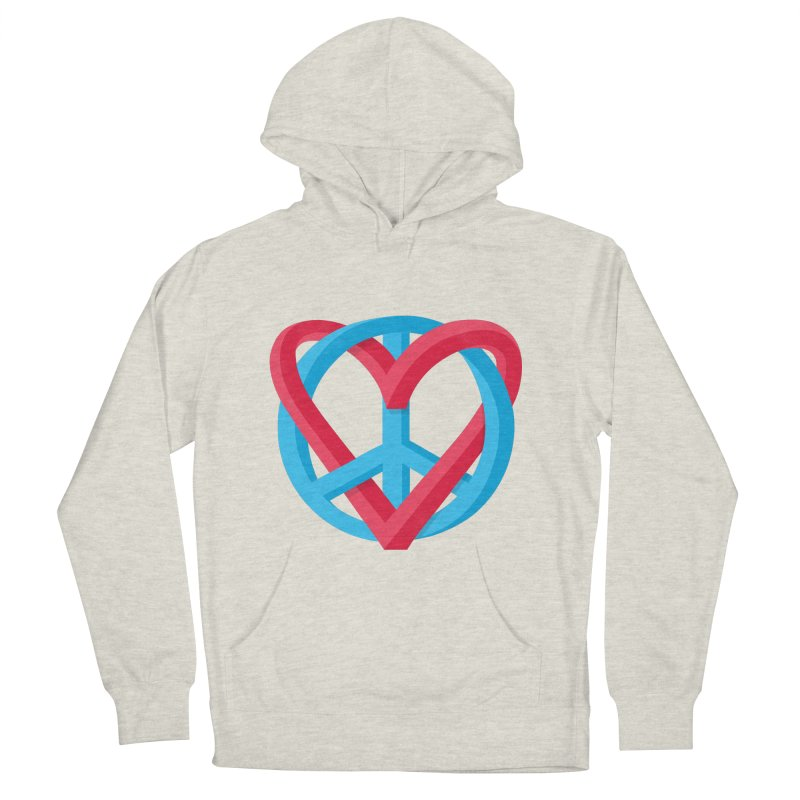 Peace + Love Men's French Terry Pullover Hoody by Corsac's Artist Shop