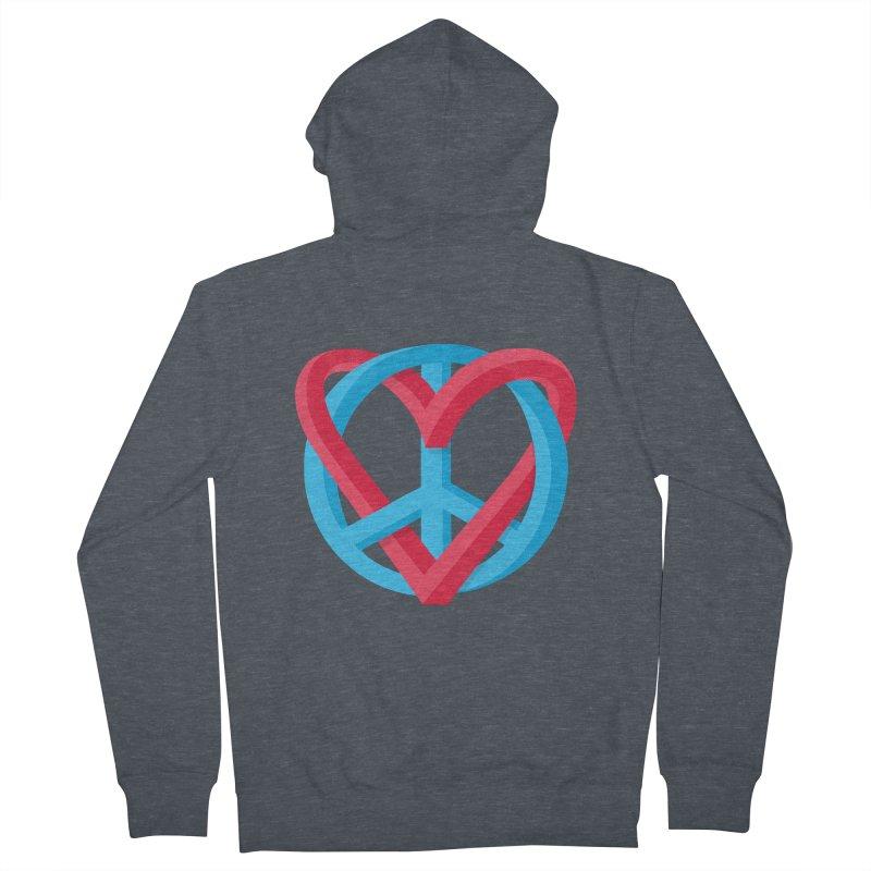 Peace + Love Women's Zip-Up Hoody by Corsac's Artist Shop