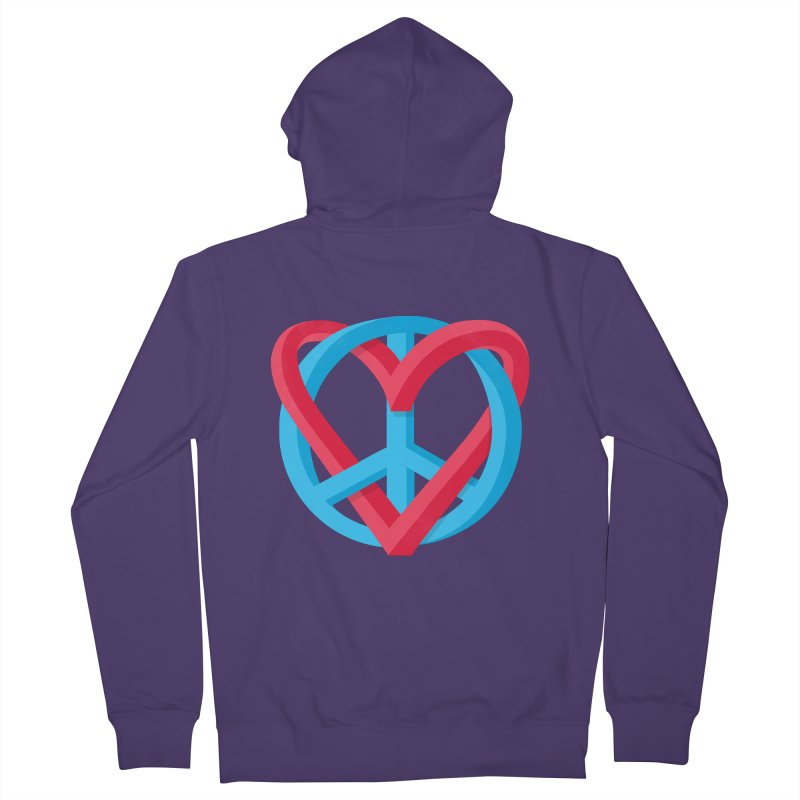 Peace + Love Women's French Terry Zip-Up Hoody by Corsac's Artist Shop