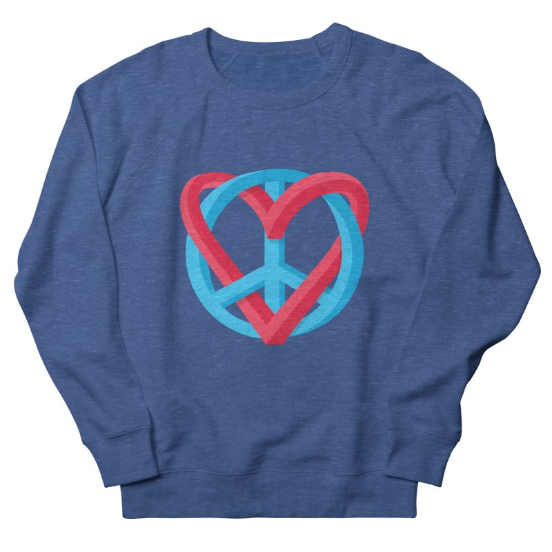 Peace + Love Women's Sweatshirt by Corsac's Artist Shop