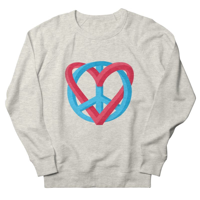 Peace + Love Women's French Terry Sweatshirt by Corsac's Artist Shop