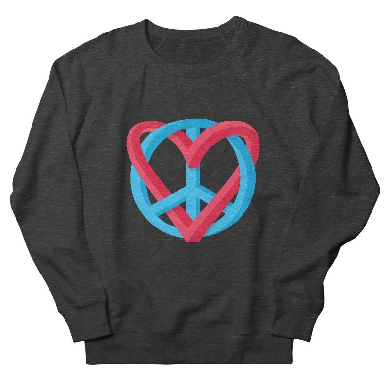 Peace + Love Men's Sweatshirt by Corsac's Artist Shop