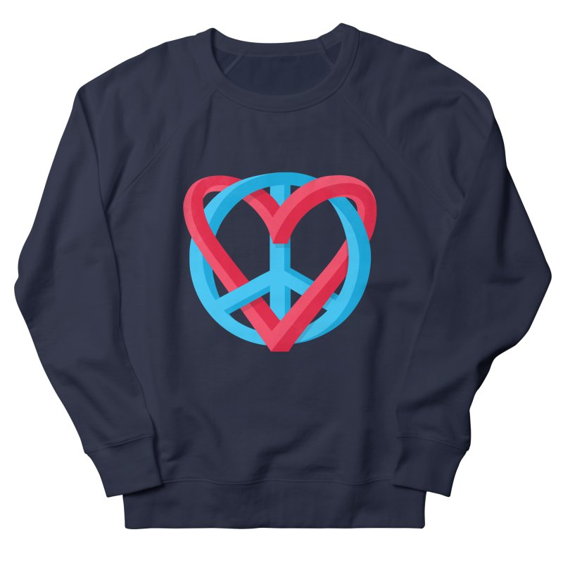 Peace + Love Men's Sweatshirt by Corsac's Artist Shop