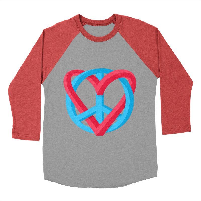 Peace + Love Women's Baseball Triblend Longsleeve T-Shirt by Corsac's Artist Shop