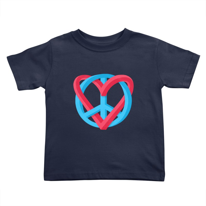 Peace + Love Kids Toddler T-Shirt by Corsac's Artist Shop