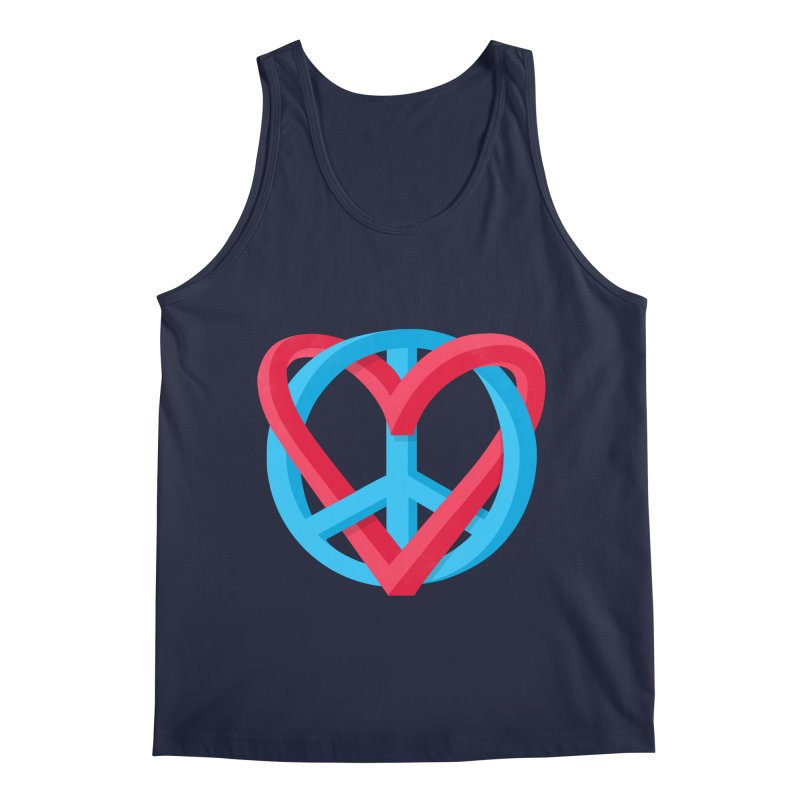 Peace + Love Men's Tank by Corsac's Artist Shop
