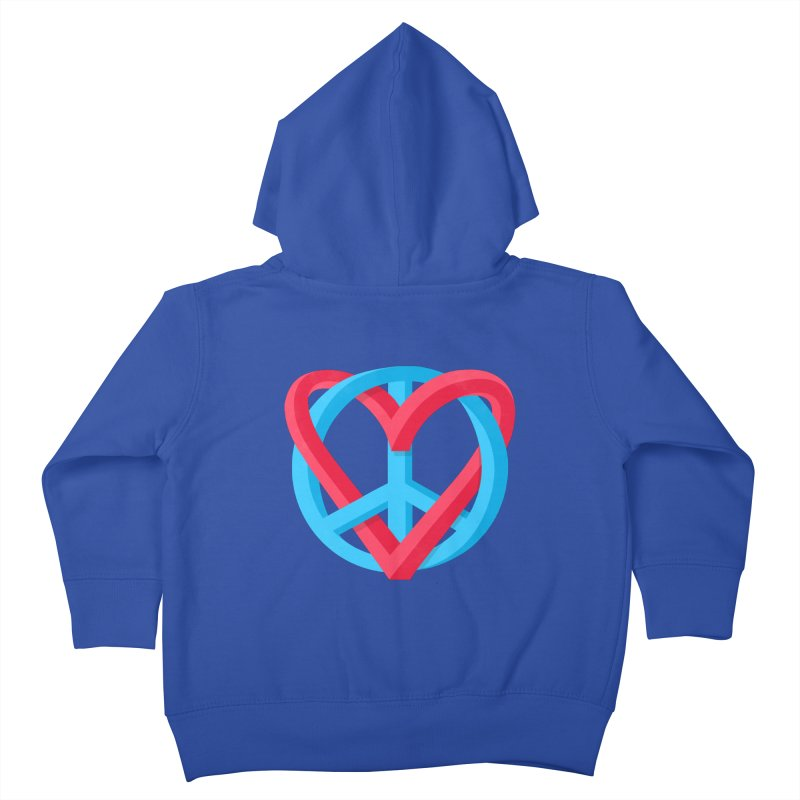 Peace + Love Kids Toddler Zip-Up Hoody by Corsac's Artist Shop