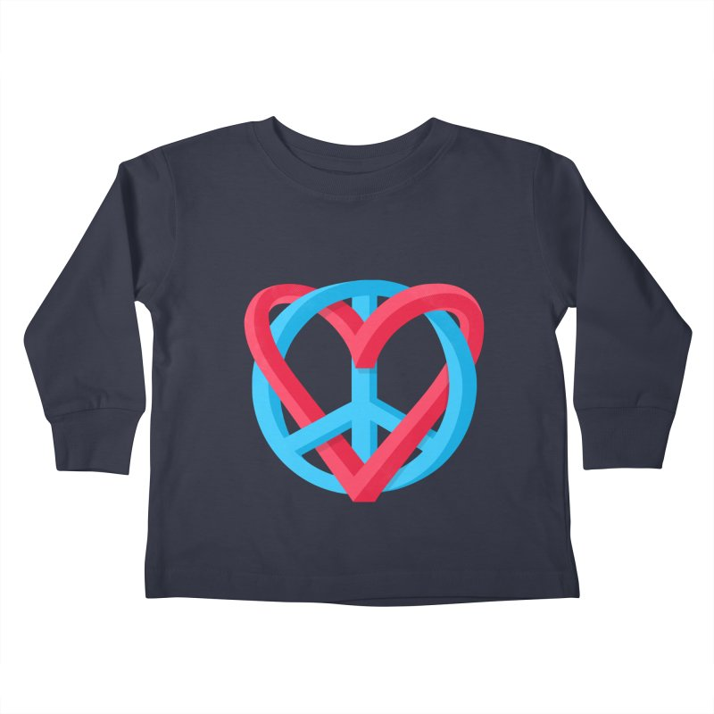 Peace + Love Kids Toddler Longsleeve T-Shirt by Corsac's Artist Shop