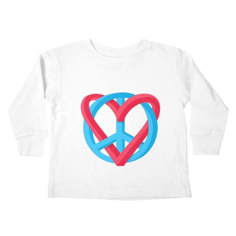 Peace + Love Kids Toddler Longsleeve T-Shirt by Corsac's Artist Shop