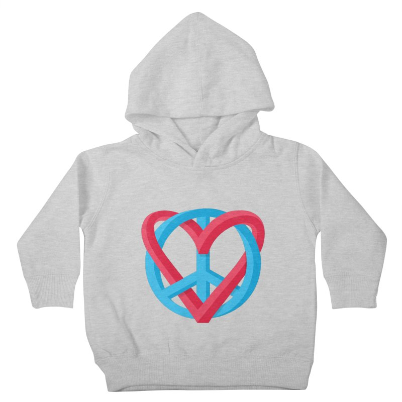 Peace + Love Kids Toddler Pullover Hoody by Corsac's Artist Shop