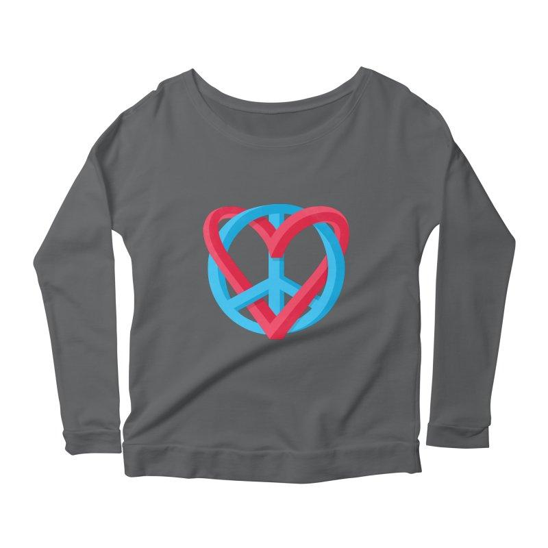 Peace + Love Women's Longsleeve T-Shirt by Corsac's Artist Shop