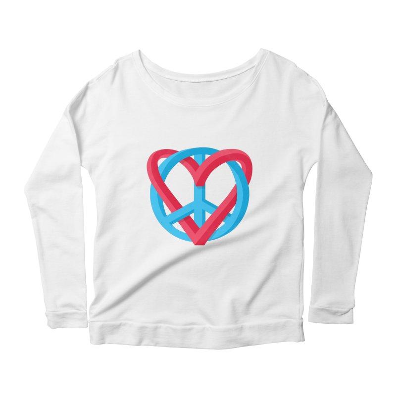 Peace + Love Women's Scoop Neck Longsleeve T-Shirt by Corsac's Artist Shop